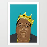 biggie Art Prints featuring BIGGIE by 6ense