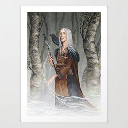 Volva ~ A Compendium of Witches Art Print