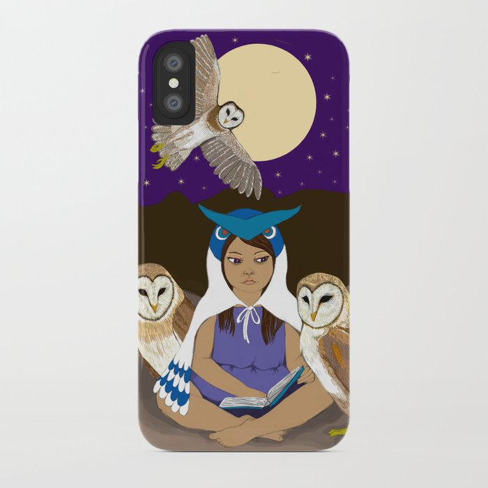 Owl Girl iPhone Case
