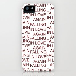 falling in love again (joyce manor) iPhone Case