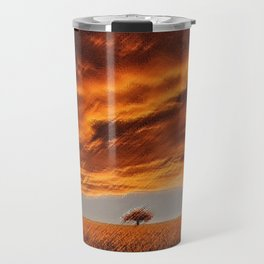 Rhode Island Tree and Timothy and Alfalfa Field Landscape Painting by Jeanpaul Ferro Travel Mug