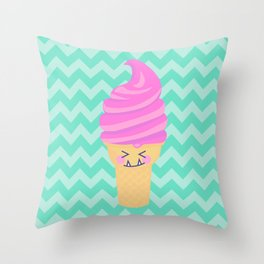 Ice cream i scream Throw Pillow