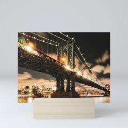 manhattan bridge Mini Art Print