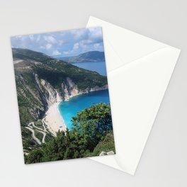 Myrtos beach, Kefalonia - Greece Stationery Cards