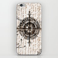 compass iPhone & iPod Skins featuring Compass by Obdine