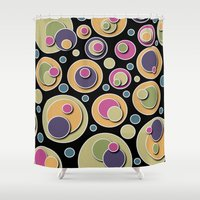 dots Shower Curtains featuring Dots by Shelly Bremmer