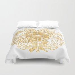 ARMENIAN COAT OF ARMS - Gold Duvet Cover