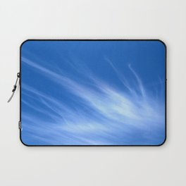 Ivory Strands of Clouds in Bright Blue Sky Laptop Sleeve