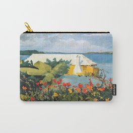 Flower Garden And Bungalow Bermuda 1889 By WinslowHomer   Reproduction Carry-All Pouch