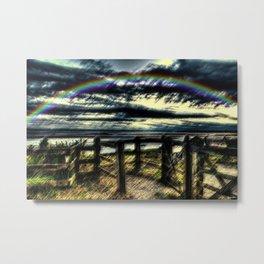 Last of the Summer Rainbows Landscape by Jeanpaul Ferro Metal Print