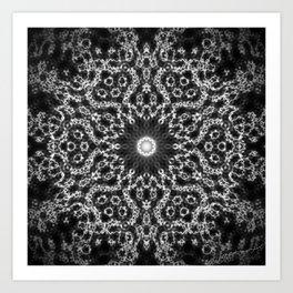 star and lotus Art Print