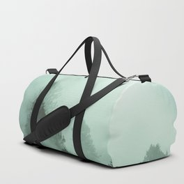 Magnificent Morning - Foggy Redwood Forest Nature Photography Duffle Bag