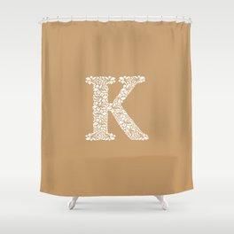 Floral Letter K Shower Curtain