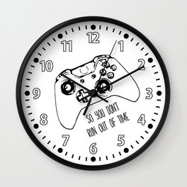Video Game Black on White Wall Clock