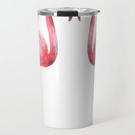 Two flamingos painting Travel Mug