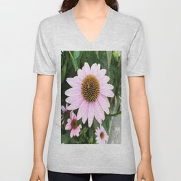 Cone Flower - Plush Unisex V-Neck