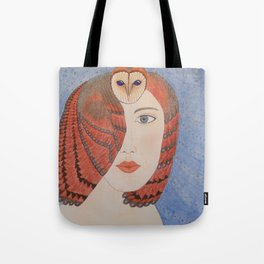 Owl Lady Tote Bag