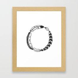 Feather Circle Framed Art Print