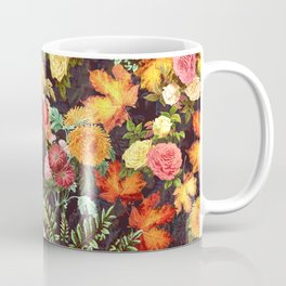 Autumn Flowers and Leaves Coffee Mug