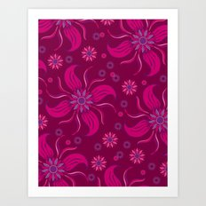 Floral Obscura Wine Art Print