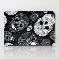 sugar skulls iPad Cases featuring Sugar Skulls by Zen and Chic