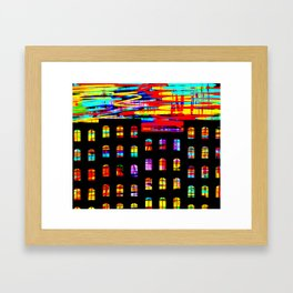 A night of color Framed Art Print