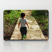 toddler iPad Cases featuring Walking Into the Future by MICHELLE MURPHY