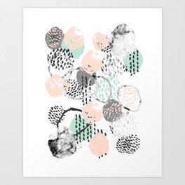 Brice - abstract minimal modern painting home decor minimalist art Art Print