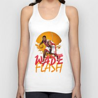 nba Tank Tops featuring NBA Legends: Dwyane Wade by Akyanyme