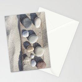 Beach pebble driftwood still life Stationery Cards