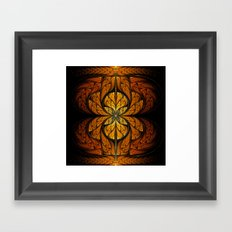 Glowing Feathers Fractal Art Framed Art Print