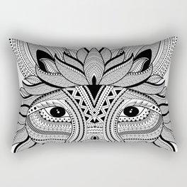 Foxy Fox Dark Rectangular Pillow