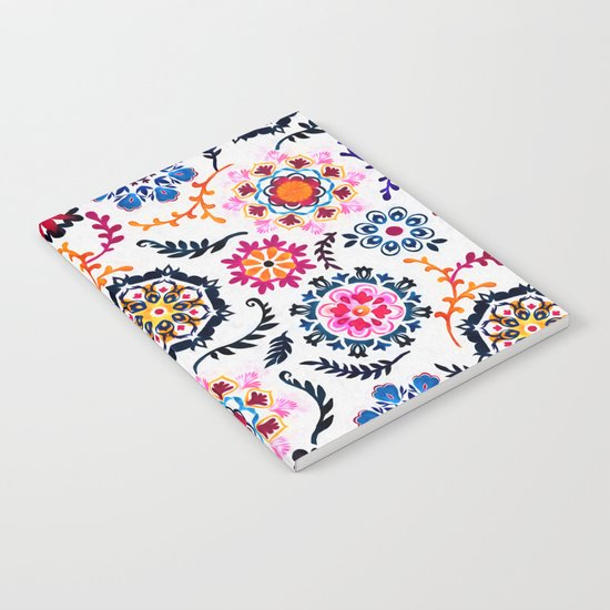 Happy Color Suzani Inspired Pattern Notebook