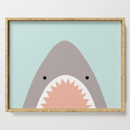 shark attack Serving Tray