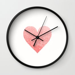 CORAL HEART Wall Clock