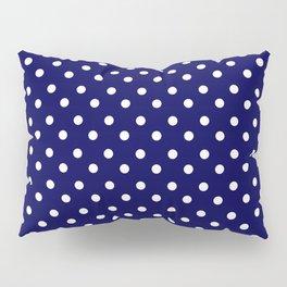 White & Blue Navy Polkadot Pattern Pillow Sham
