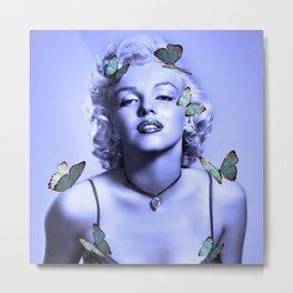 Butterflies loves Marilyn  Metal Print