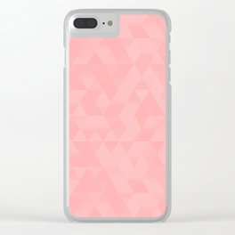 Pastel Millennial Pink Geometric Pattern Clear iPhone Case