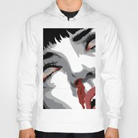 mia wallace Hoodies featuring There goes mrs. Mia Wallace by The Headless Fish