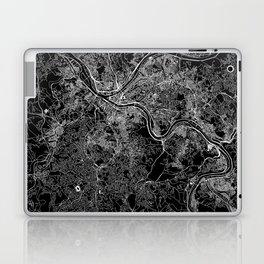 Pittsburgh Black Map Laptop & iPad Skin