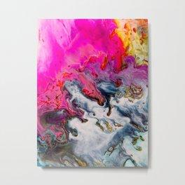 Abstract Melt XII Metal Print