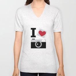 I love camera Unisex V-Neck