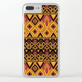 Yellow plaid. The creative pattern . Clear iPhone Case