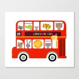 Animal Bus Canvas Print