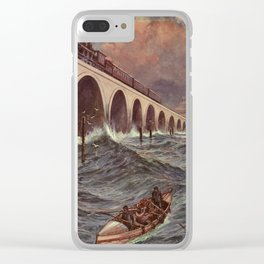 Lacy, Charles J. de (1860-1936) - Engineering Wonders of the World 1909 - Train crossing the Ba Clear iPhone Case