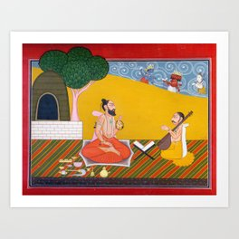 Ragamala Painting 2 Art Print