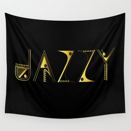 Jazzy Letterform Wall Tapestry