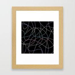 Abstract Threads – Intersex Pride Flag Framed Art Print