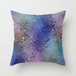 The Abstract Blues Throw Pillow