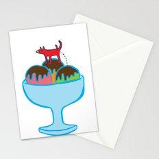 Ice-cream dog Stationery Cards